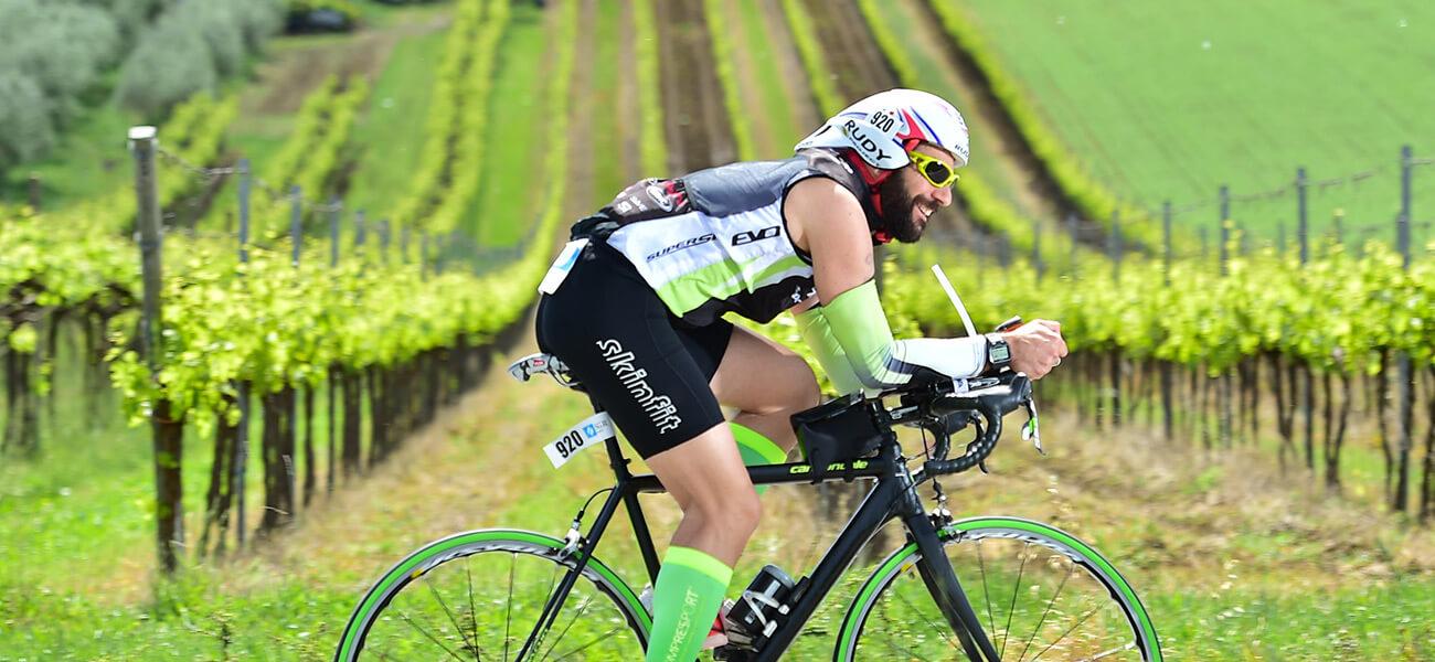 Mezzo Ironman tra i colli romagnoli