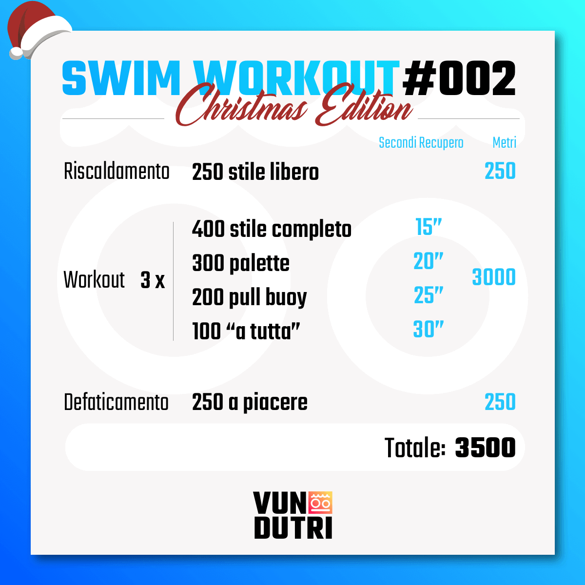 Swim workout 002