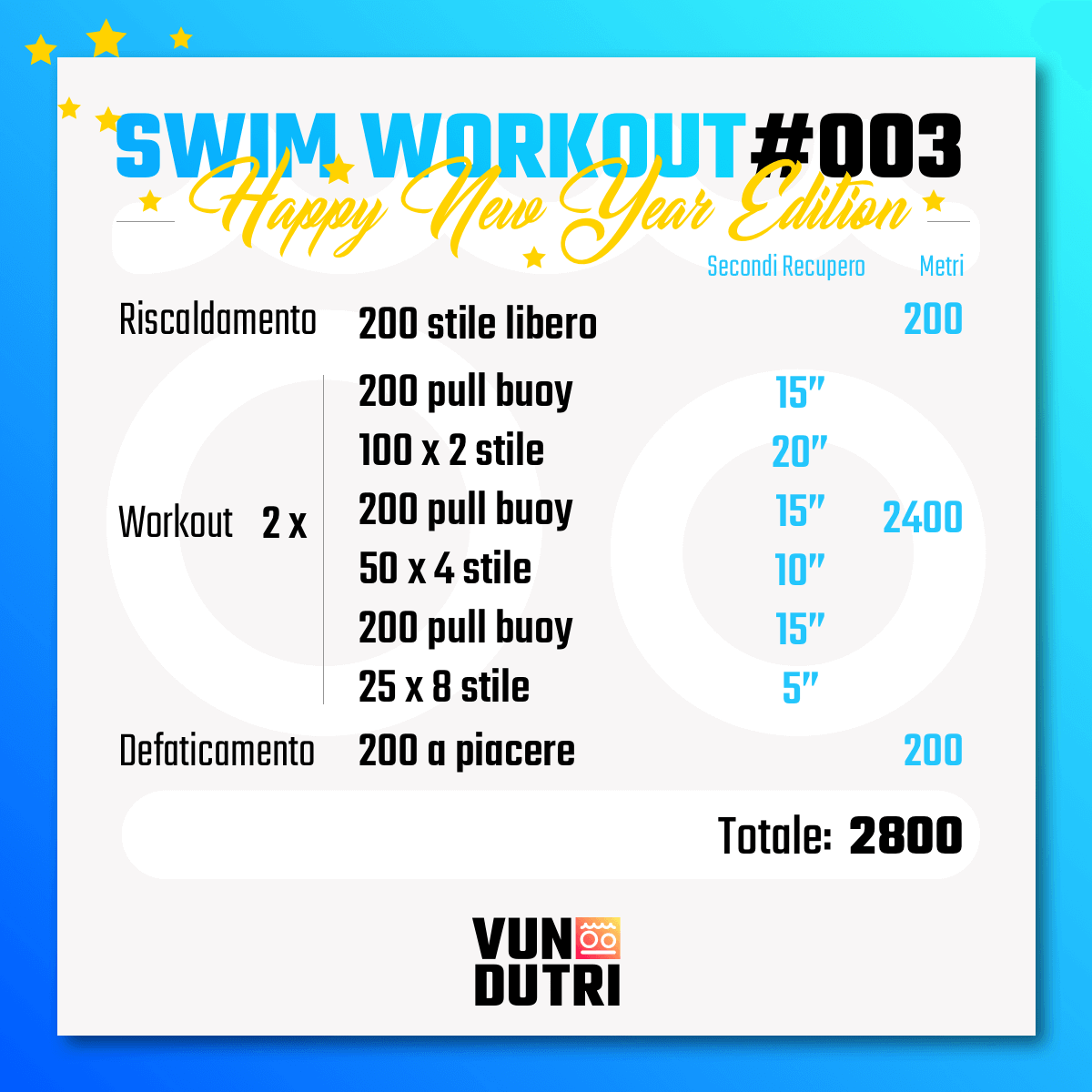 Swim workout 003