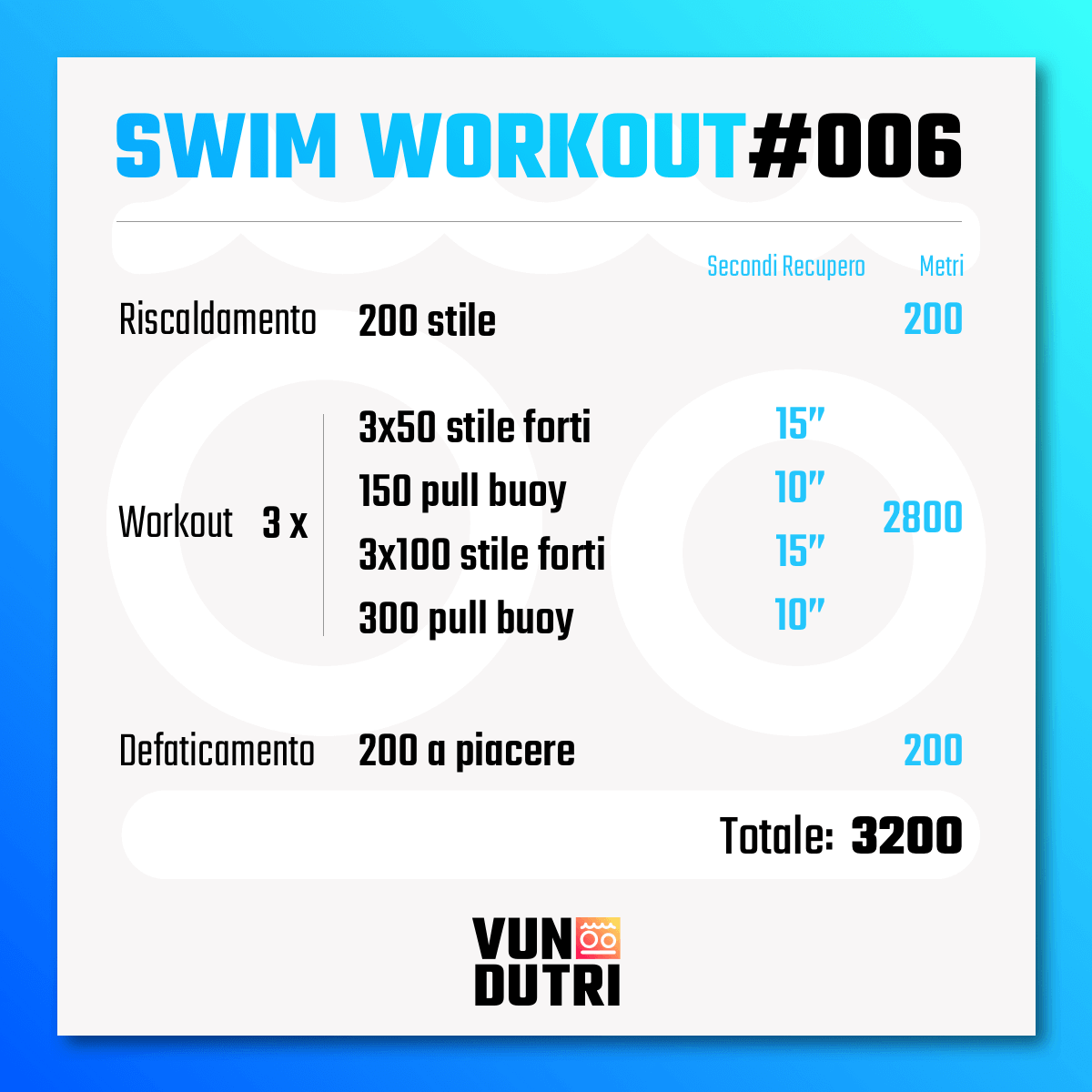 Swim workout 006