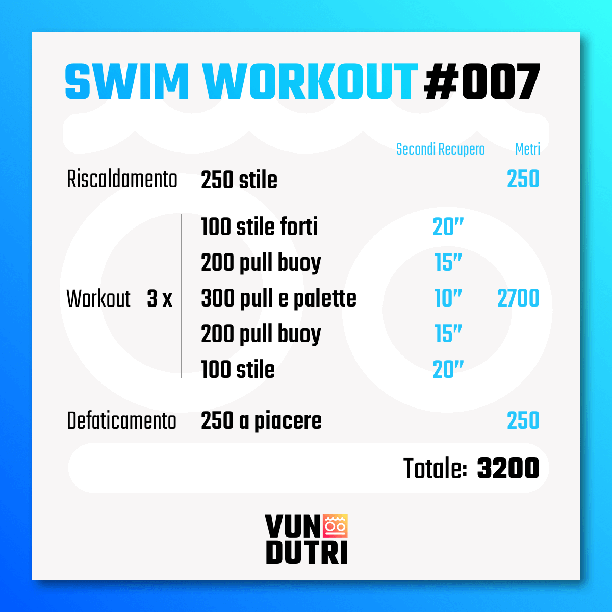 Swim workout 007