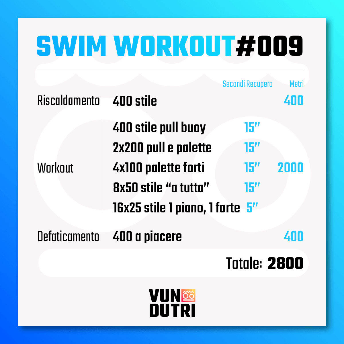 Swim workout 009