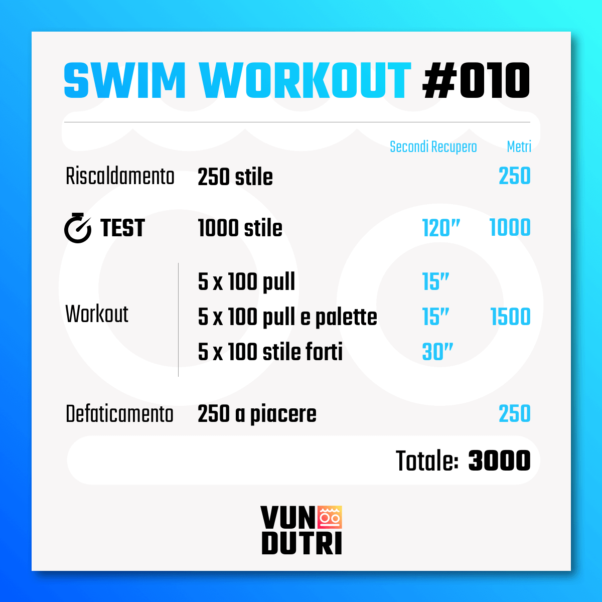 Swim workout 010