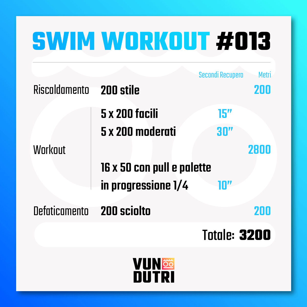 Swim workout 013