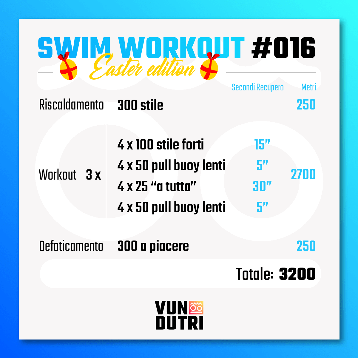 Swim workout 016