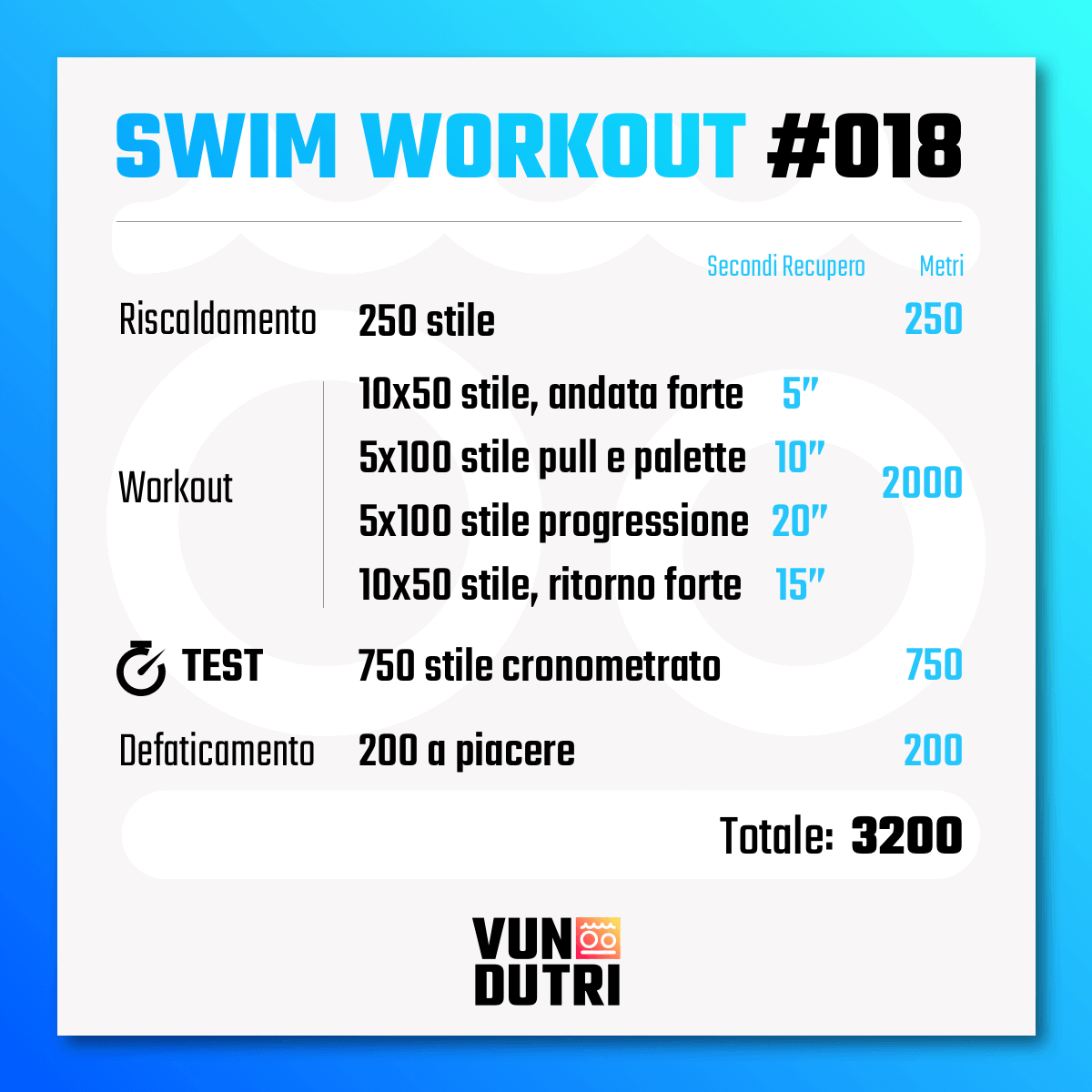 Swim workout 018