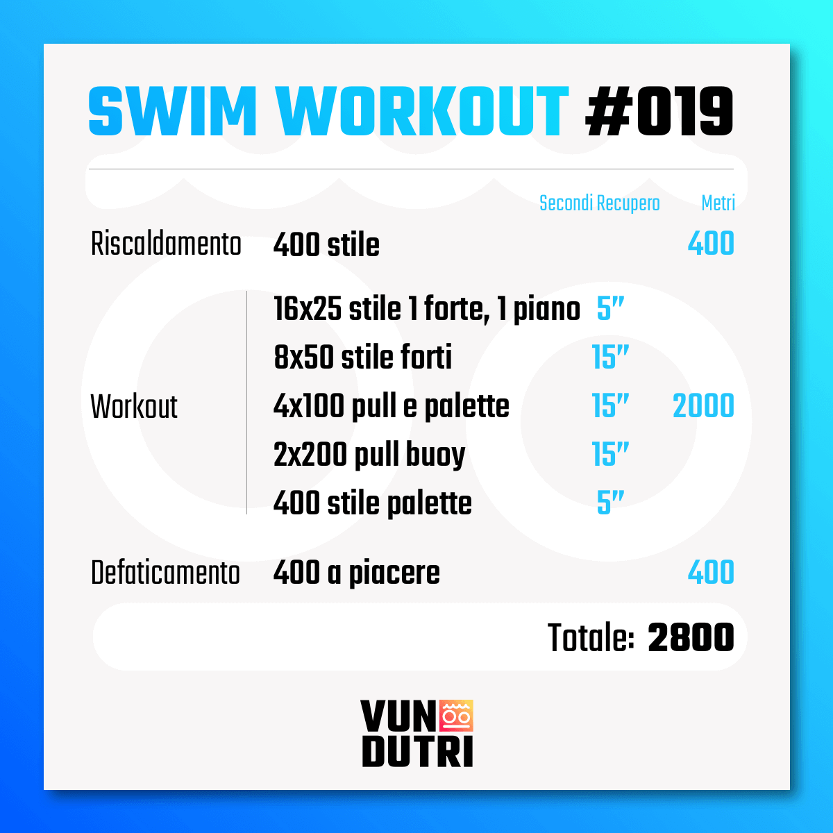 Swim workout 019