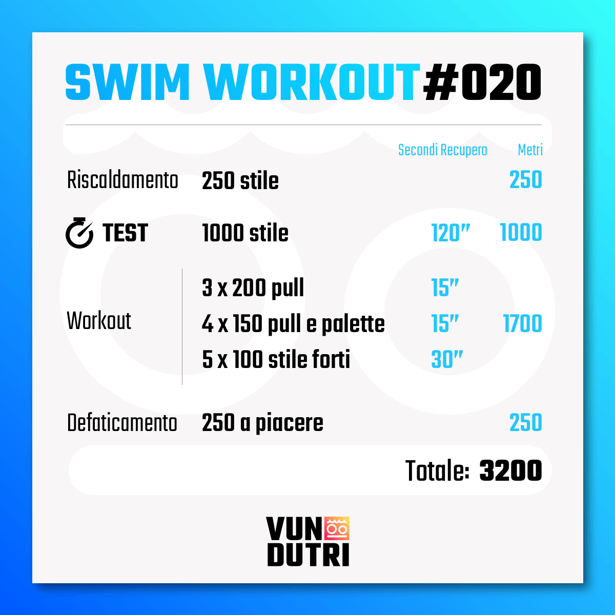 Swim workout 020