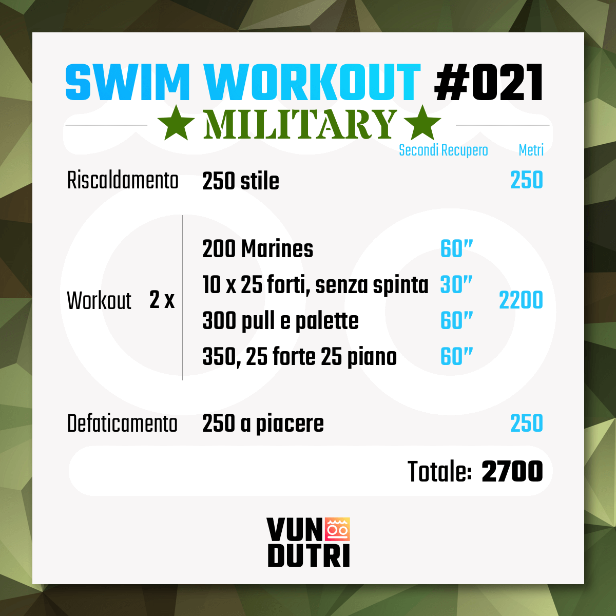 Swim workout 021