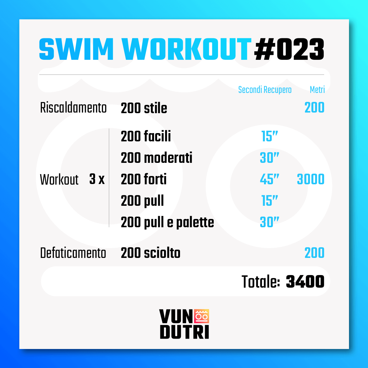 Swim workout 023