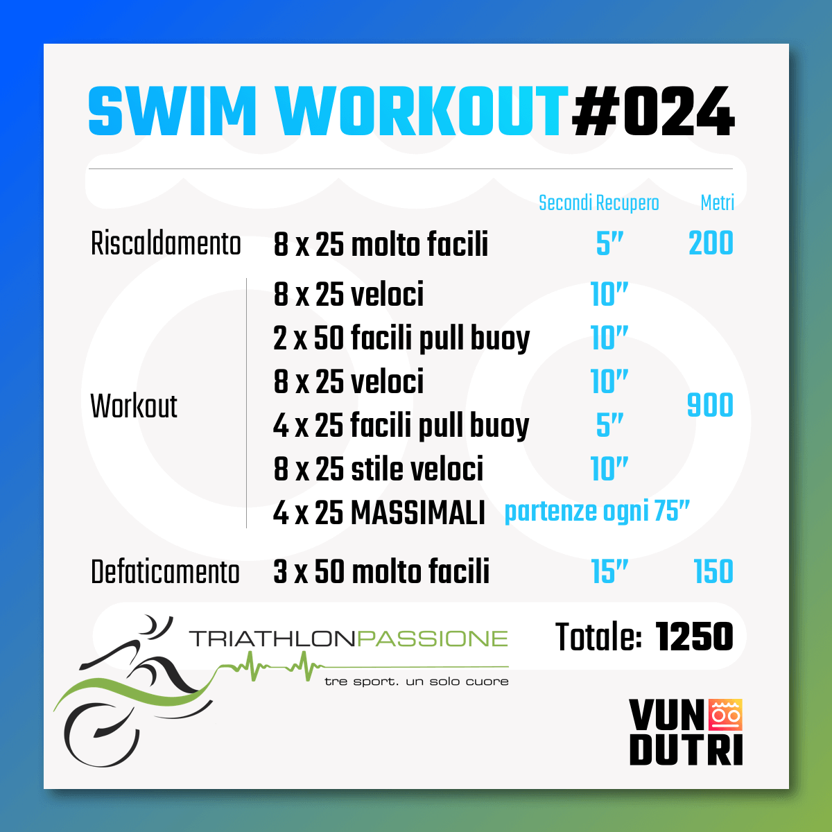 Swim workout 024