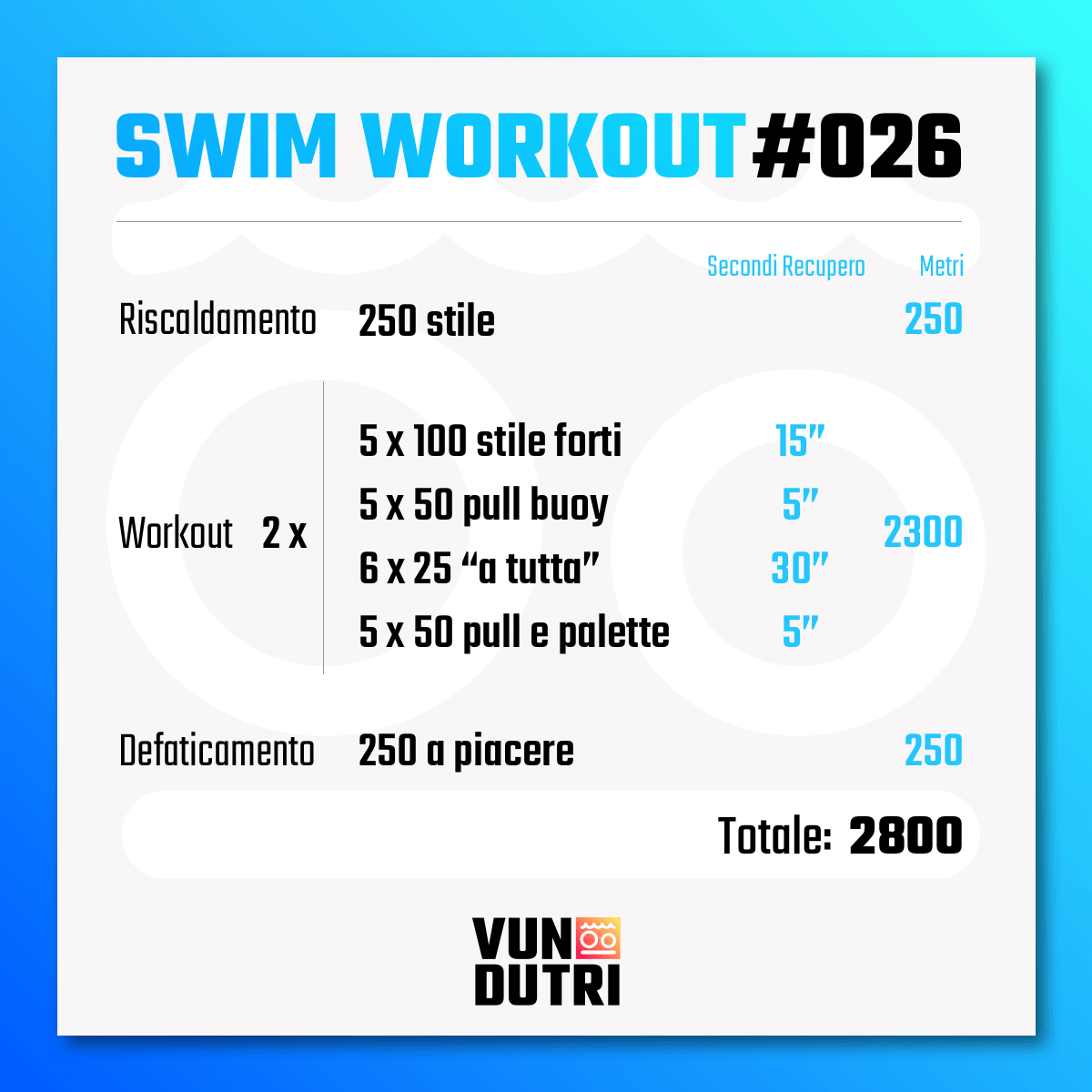 Swim workout 026