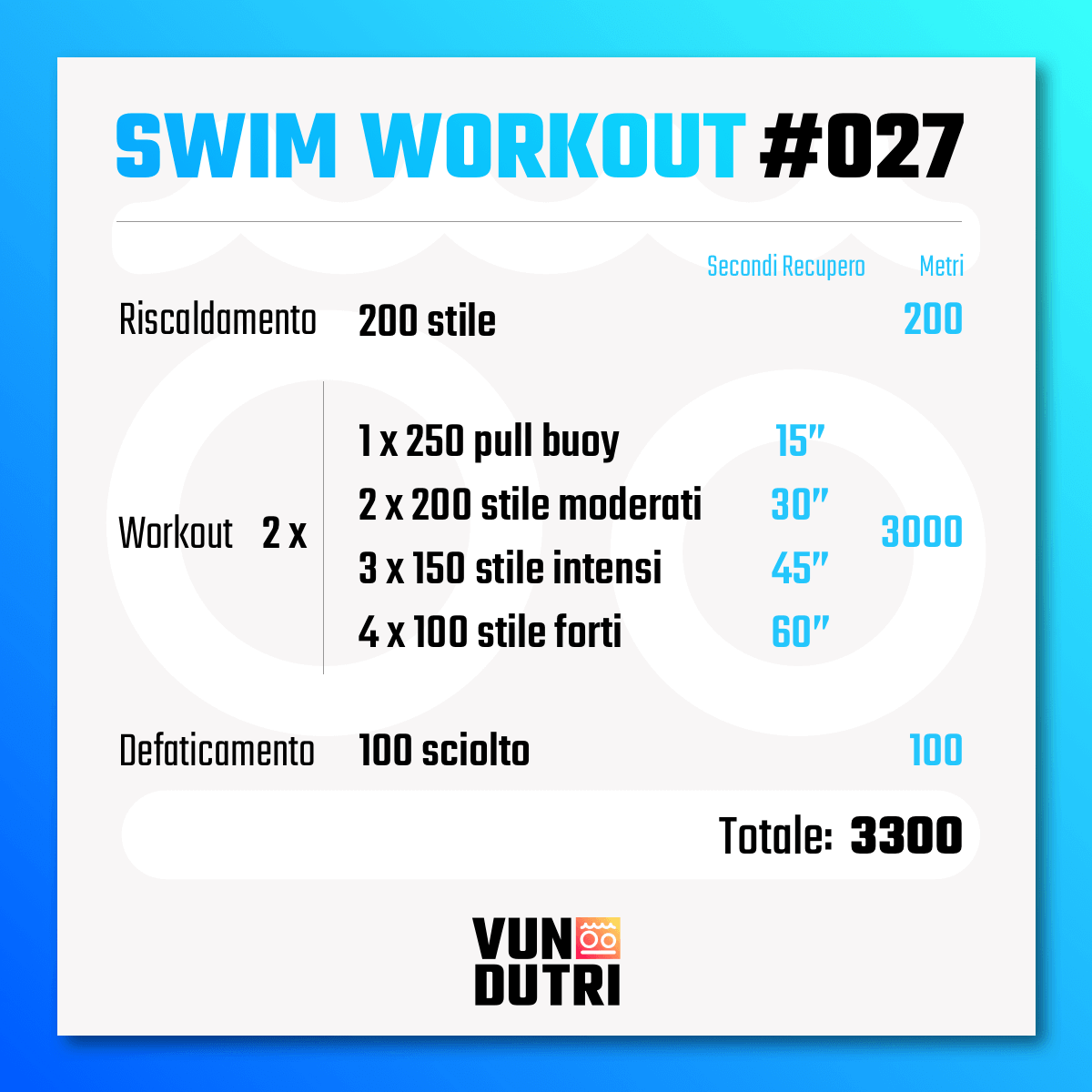 Swim workout 027