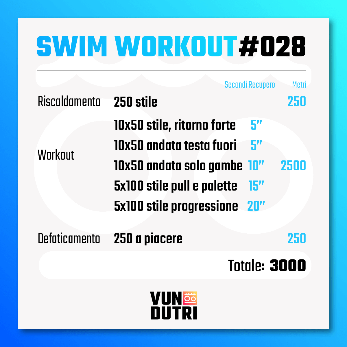 Swim workout 028