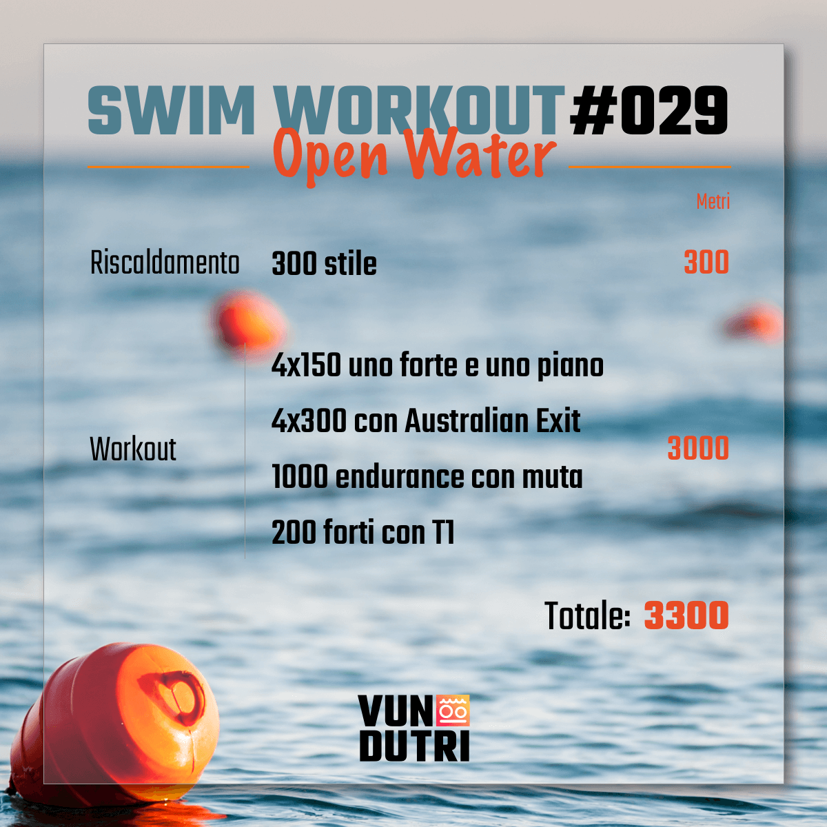Swim workout 029 - Open Water