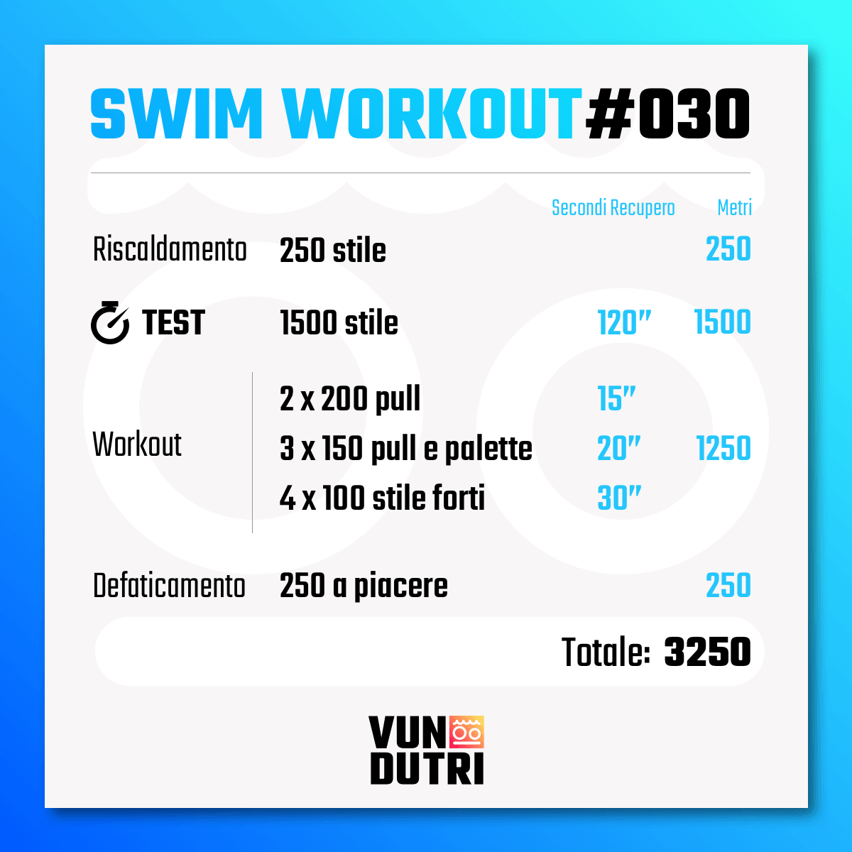 Swim workout 030