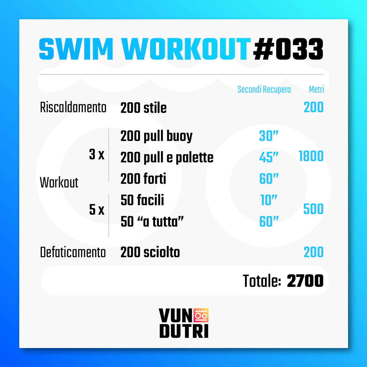 Swim workout 033
