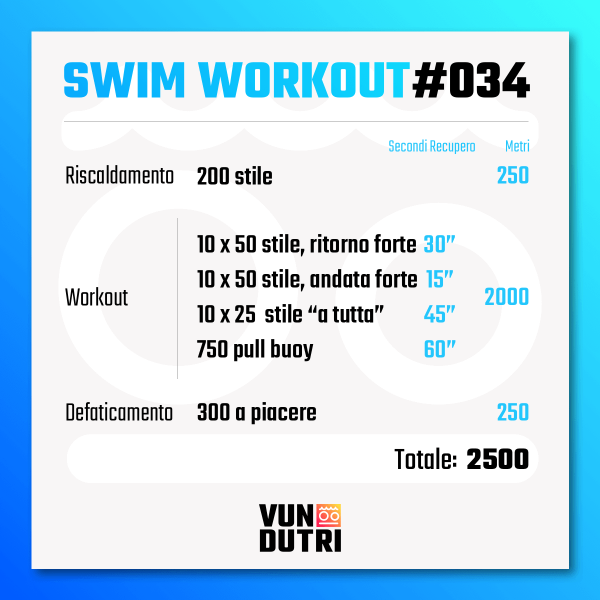 Swim workout 034
