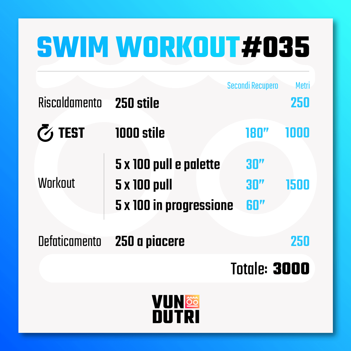 Swim workout 035