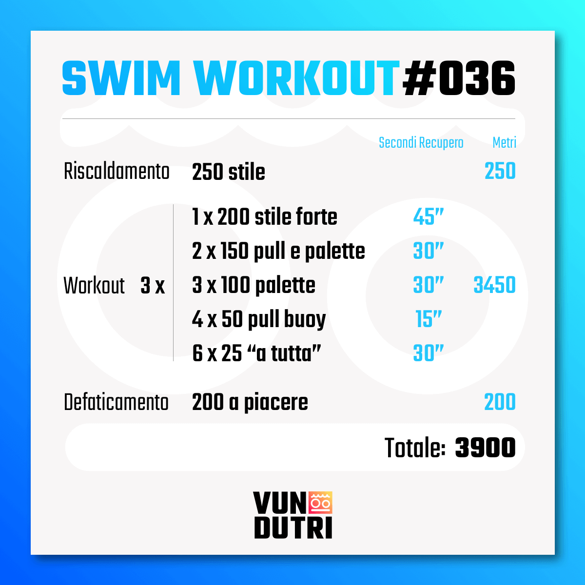 Swim workout 036