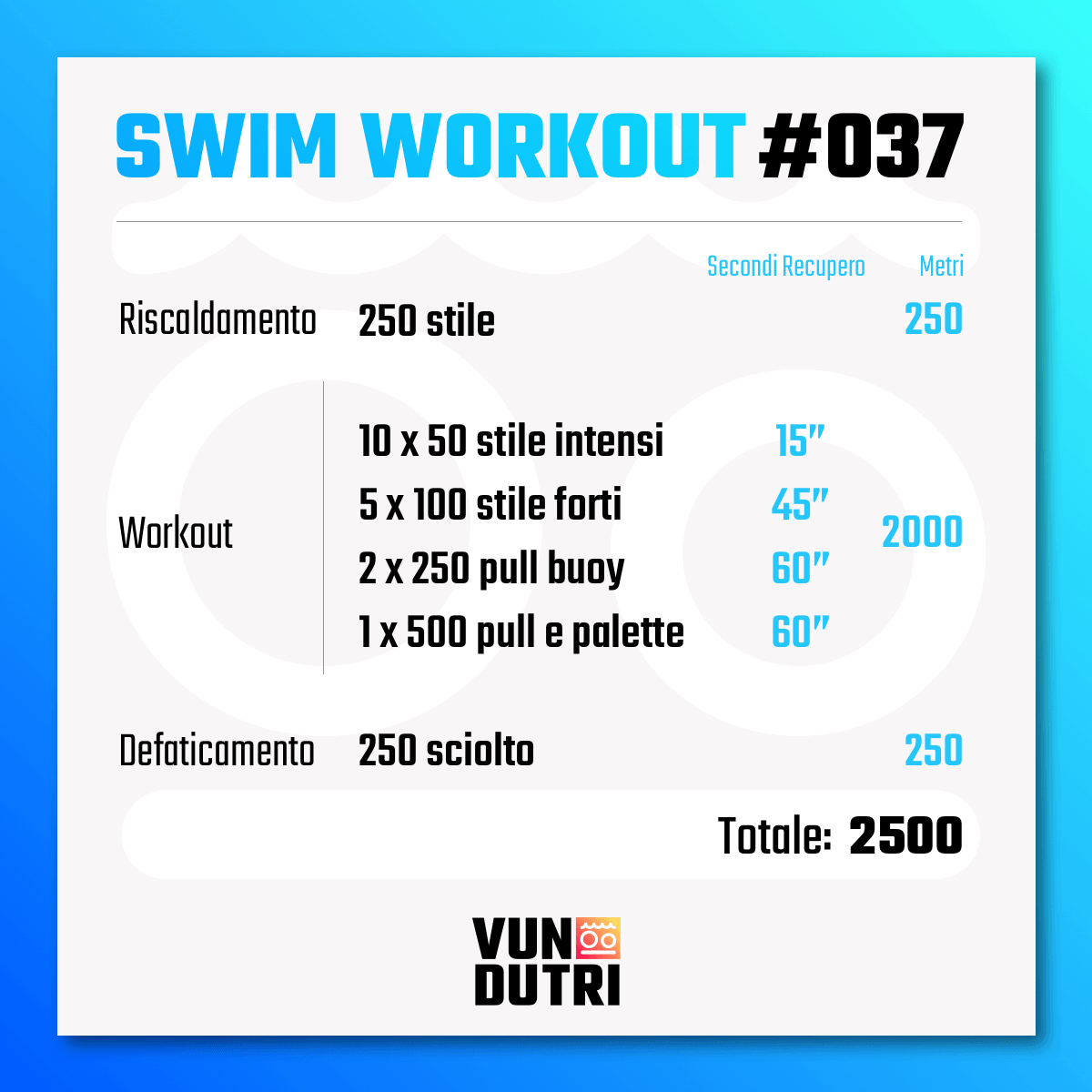 Swim workout 037