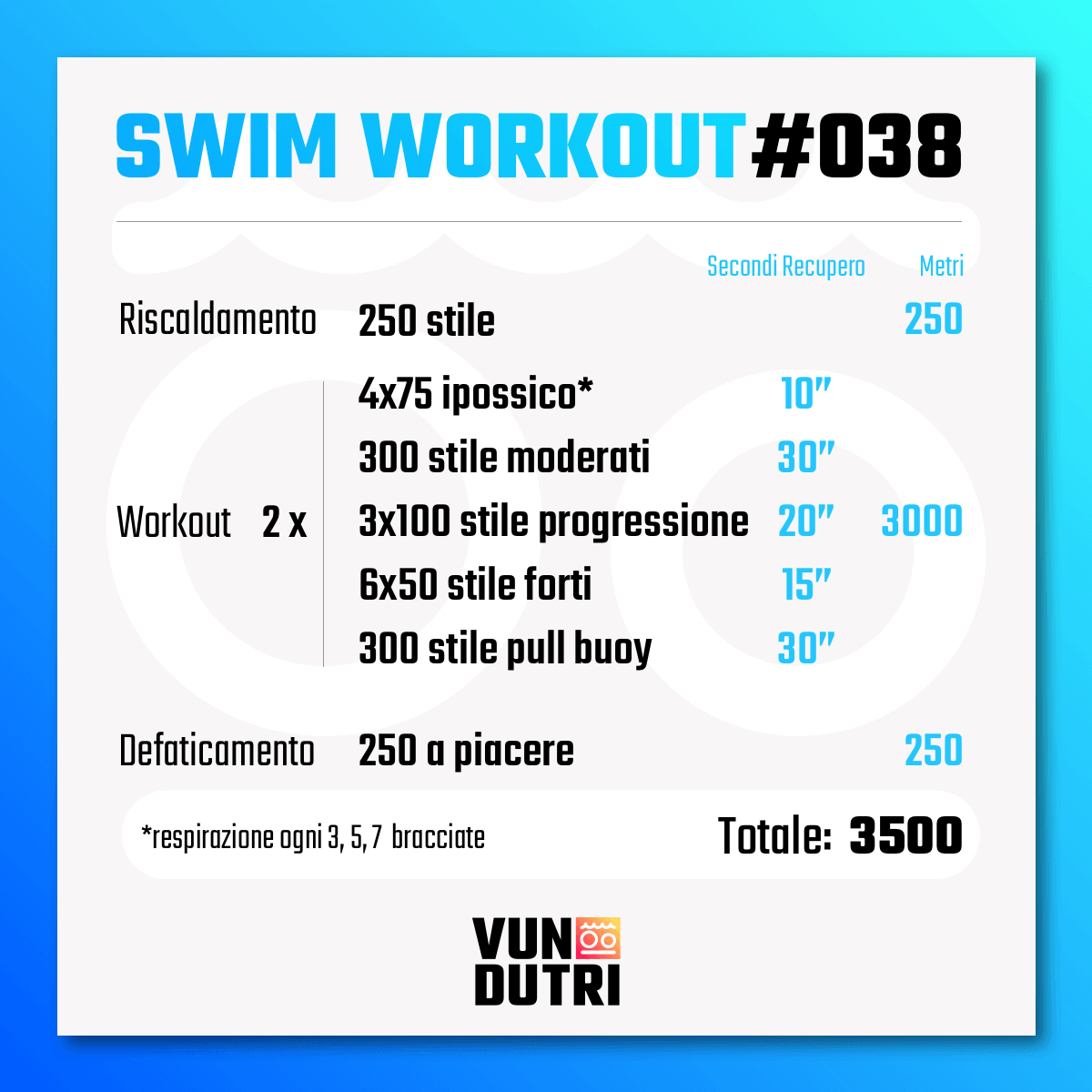 Swim workout 038