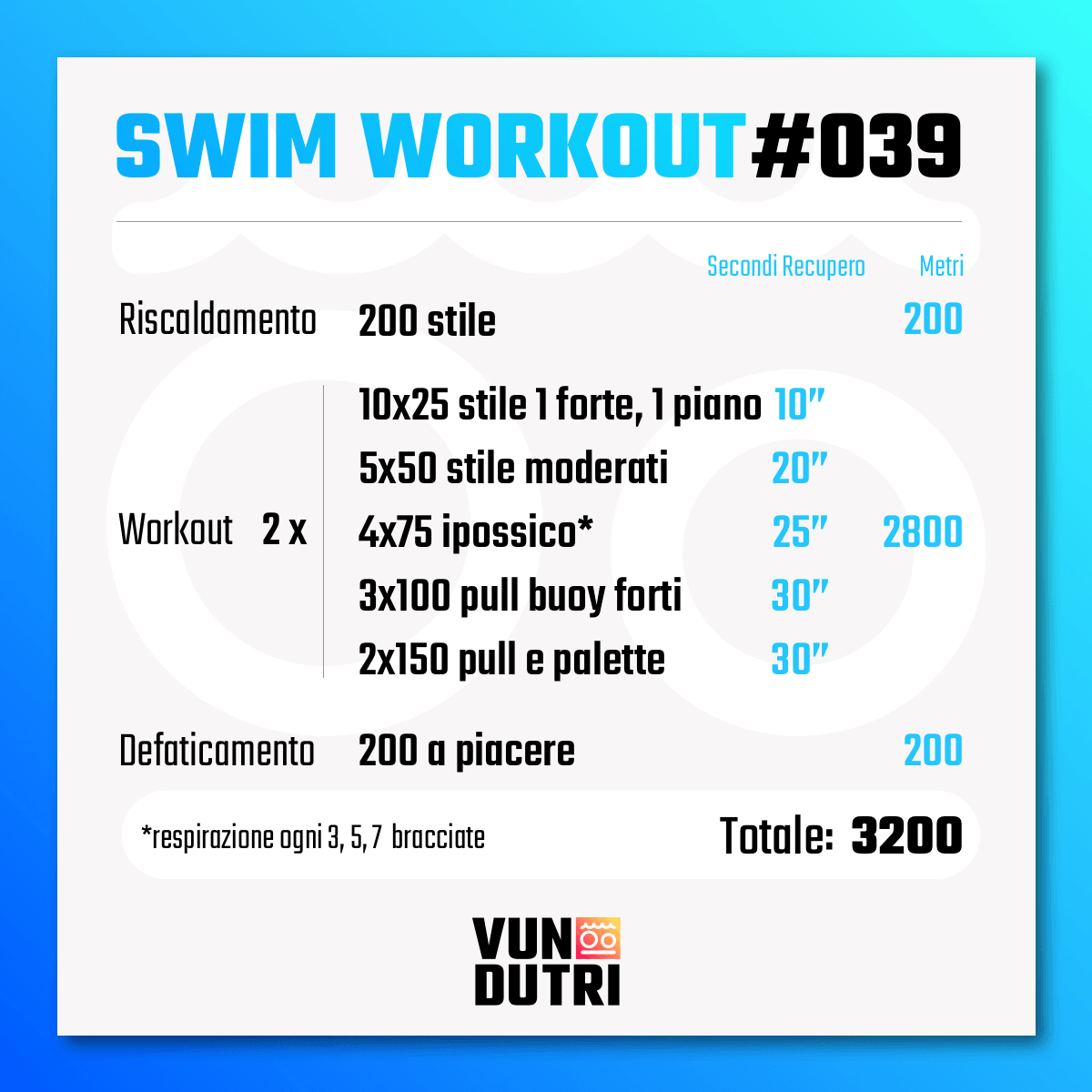Swim workout 039