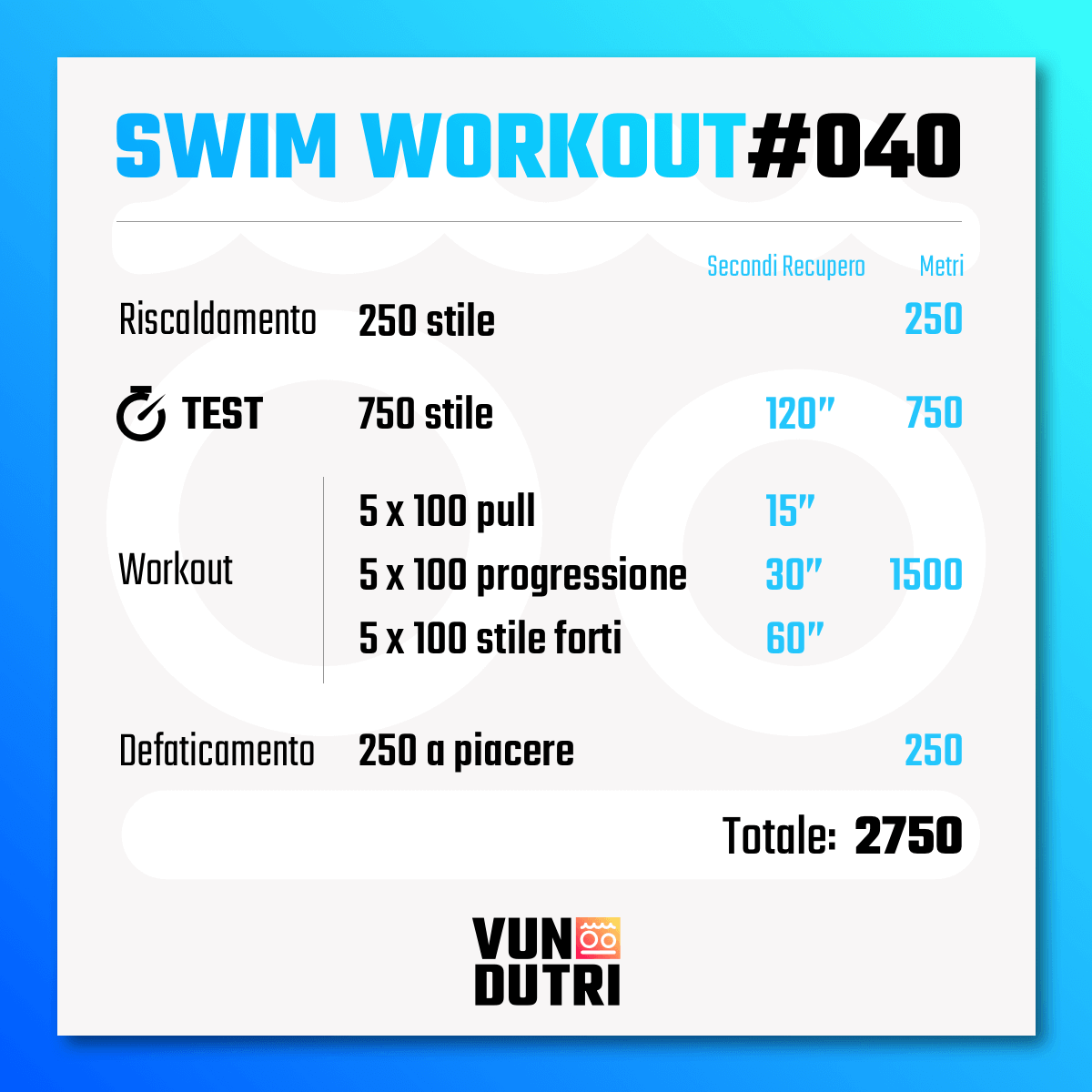 Swim workout 040