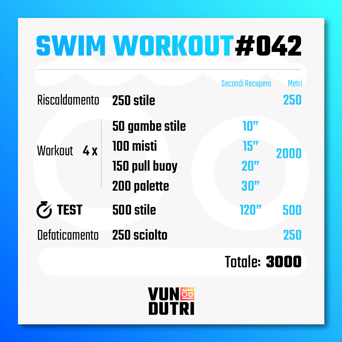 Swim workout 042