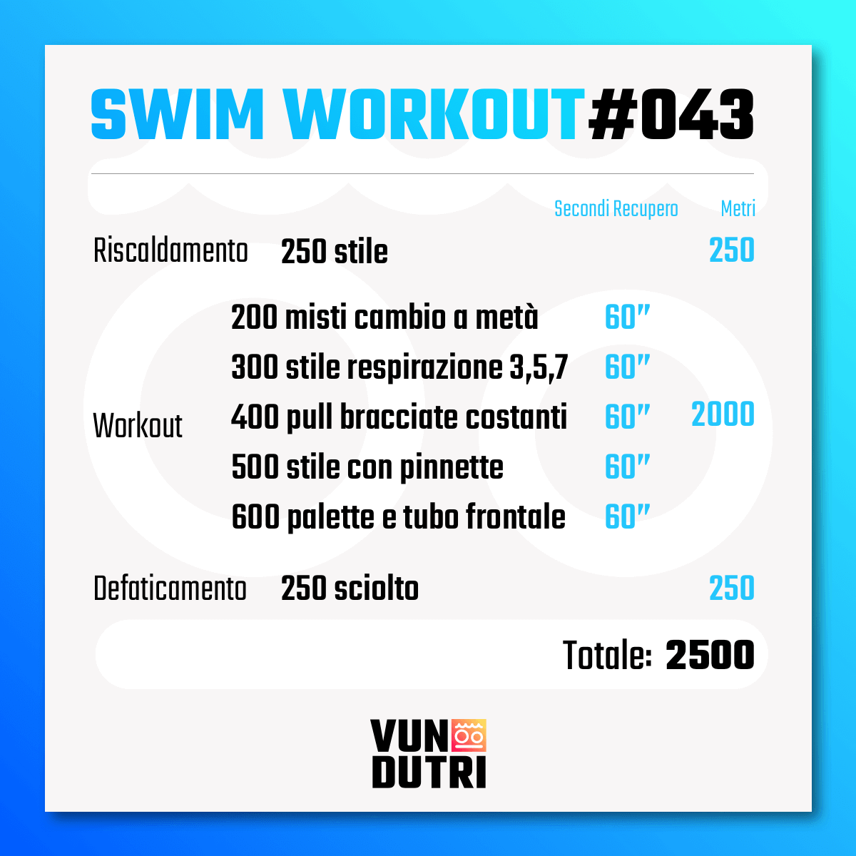 Swim workout 043