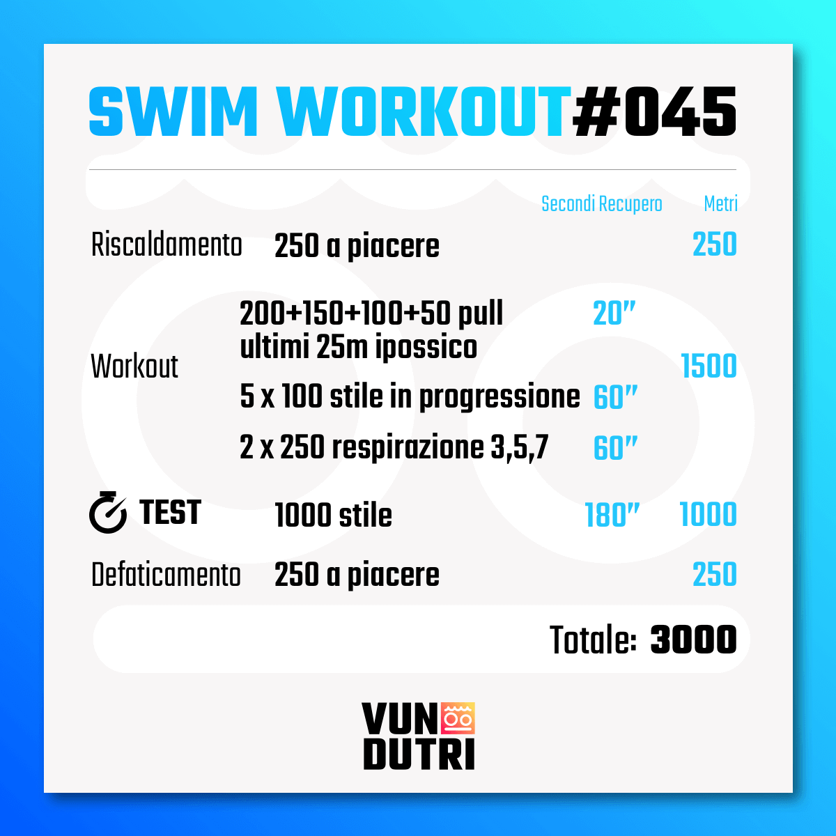 Swim workout 045