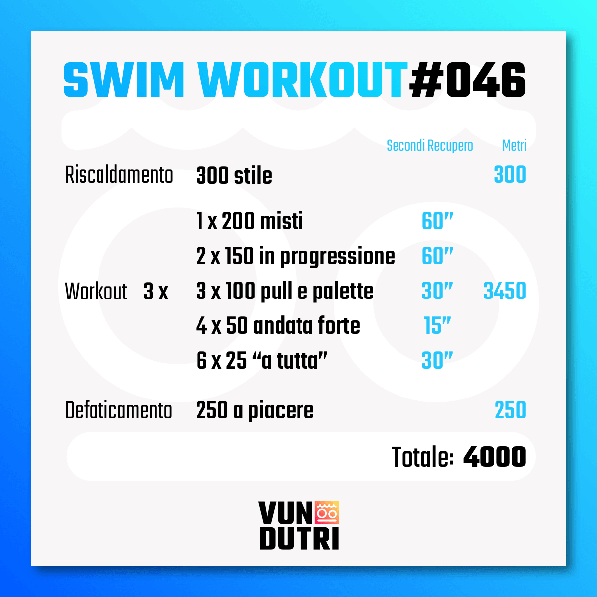 Swim workout 046