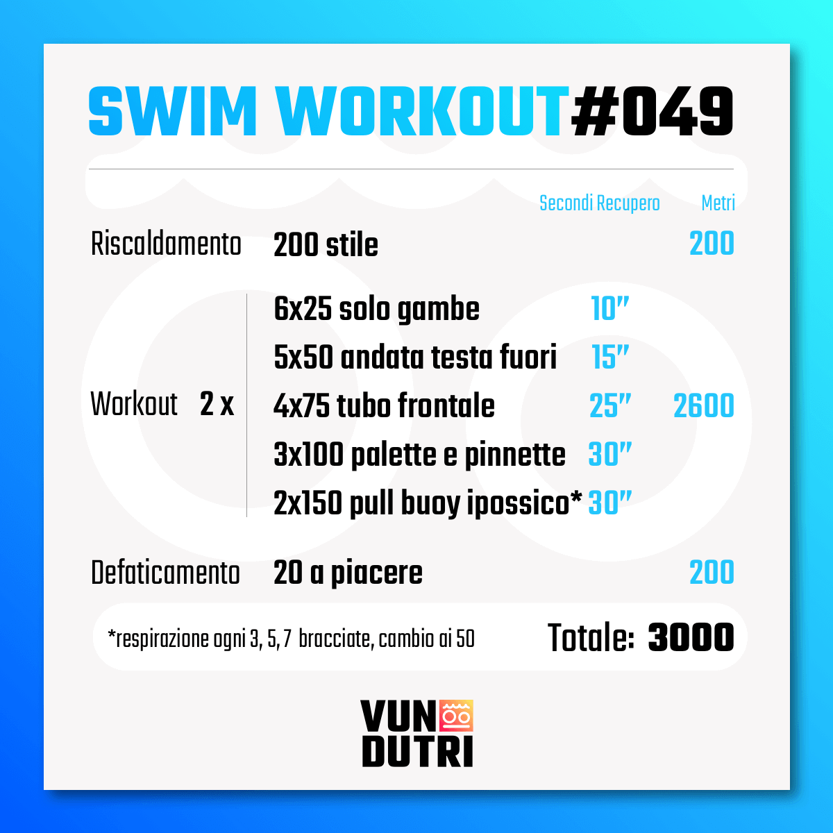 Swim workout 049