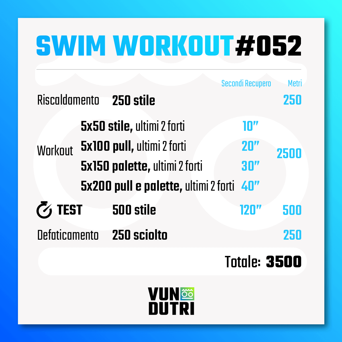 Swim workout 052
