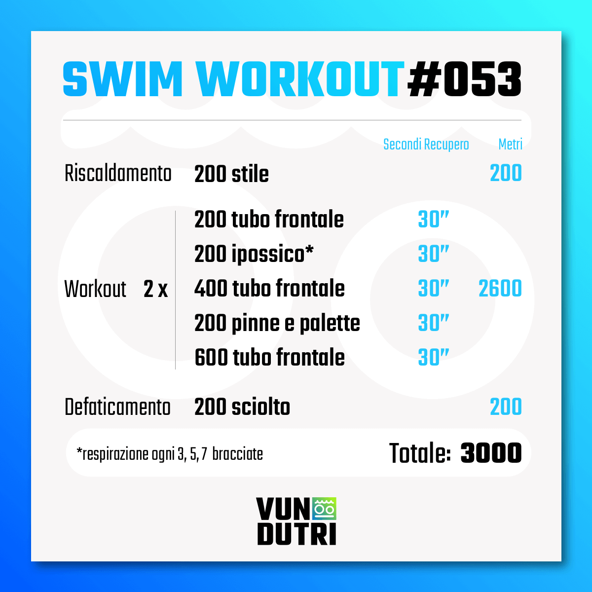 Swim workout 053