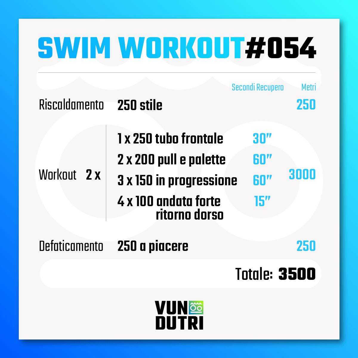 Swim workout 054
