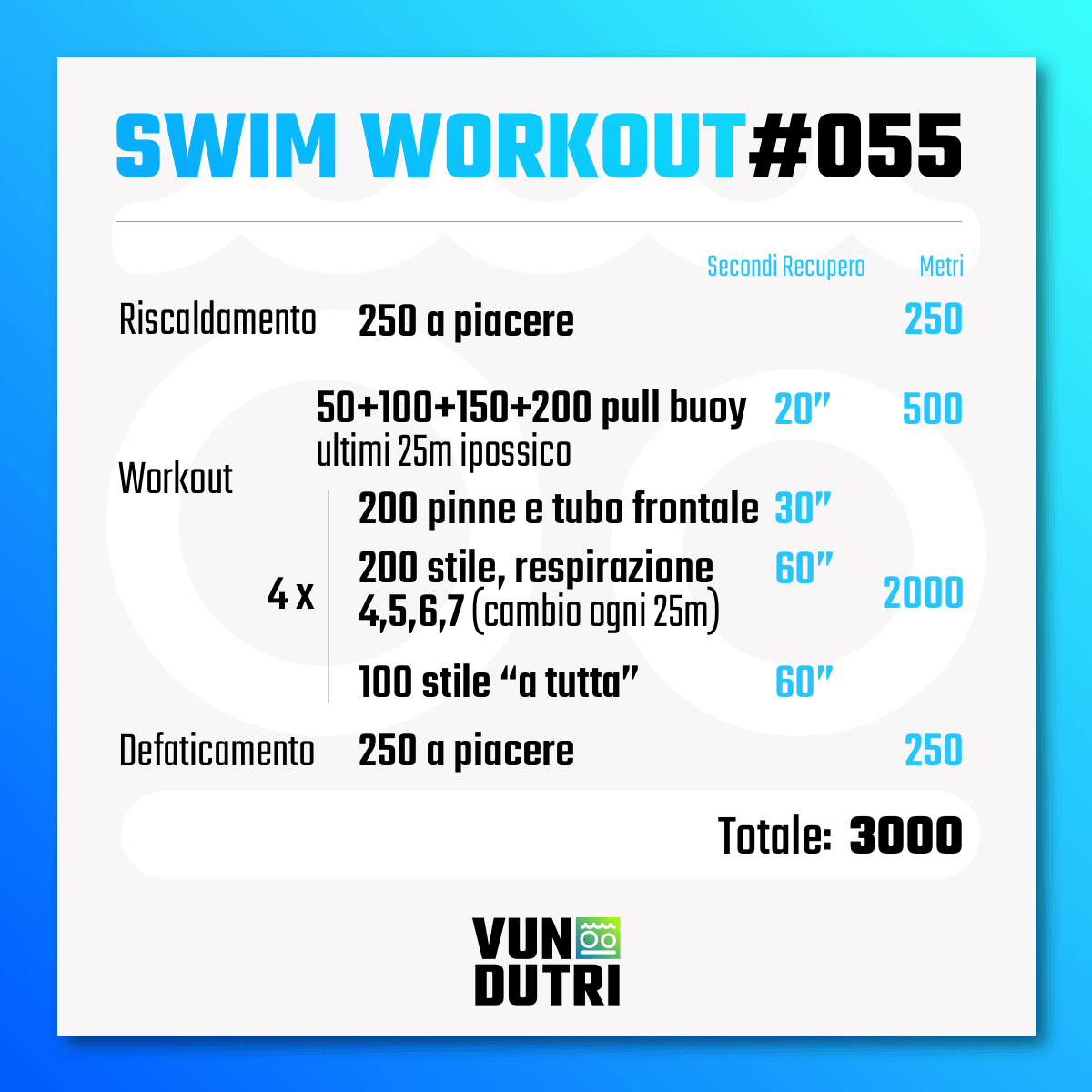 Swim workout 055