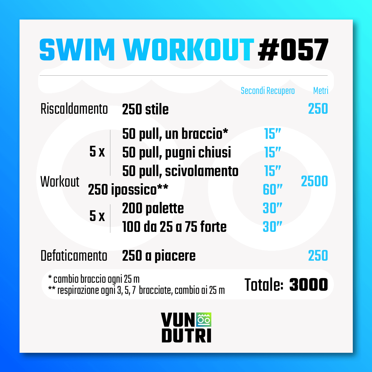 Swim workout 057