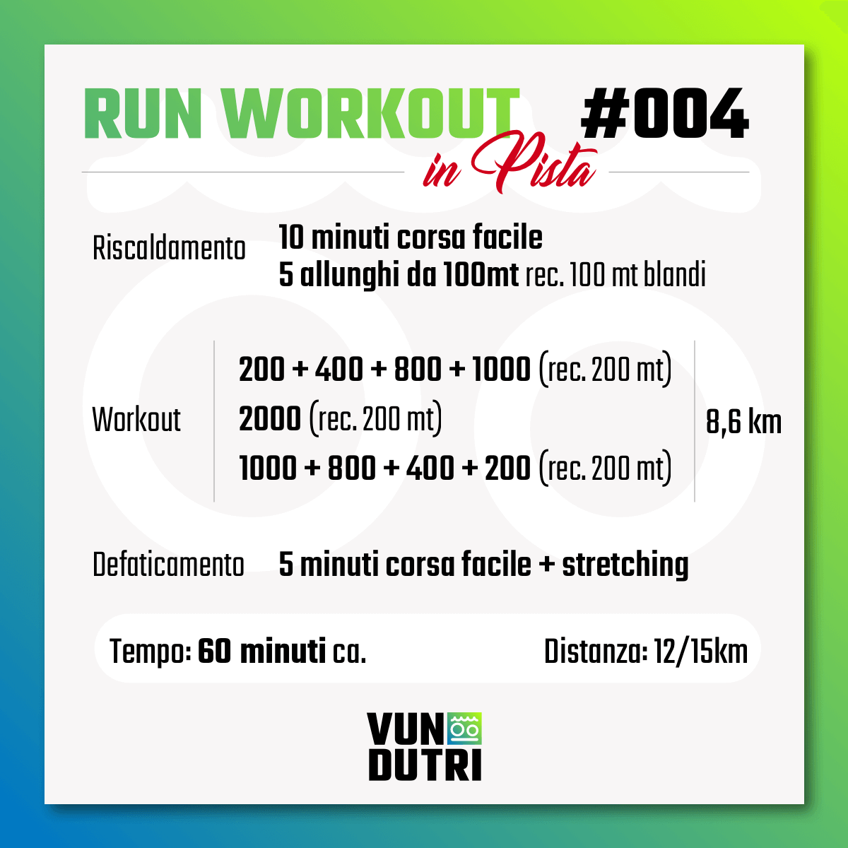 Run Workout 004 - in pista