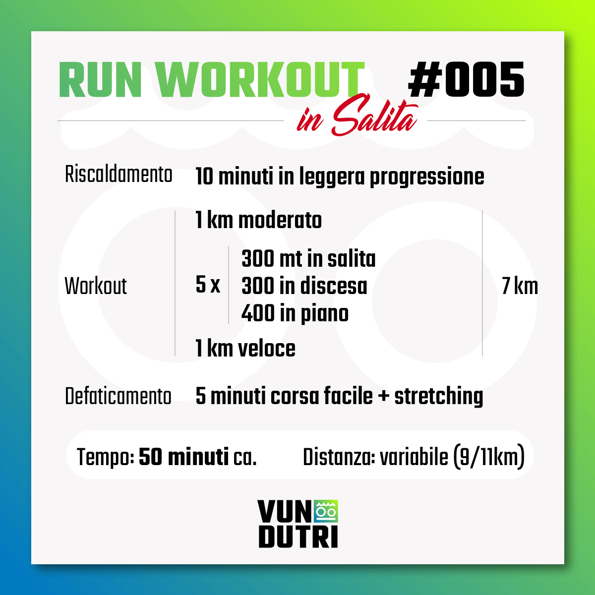 Run Workout 005 - in salita