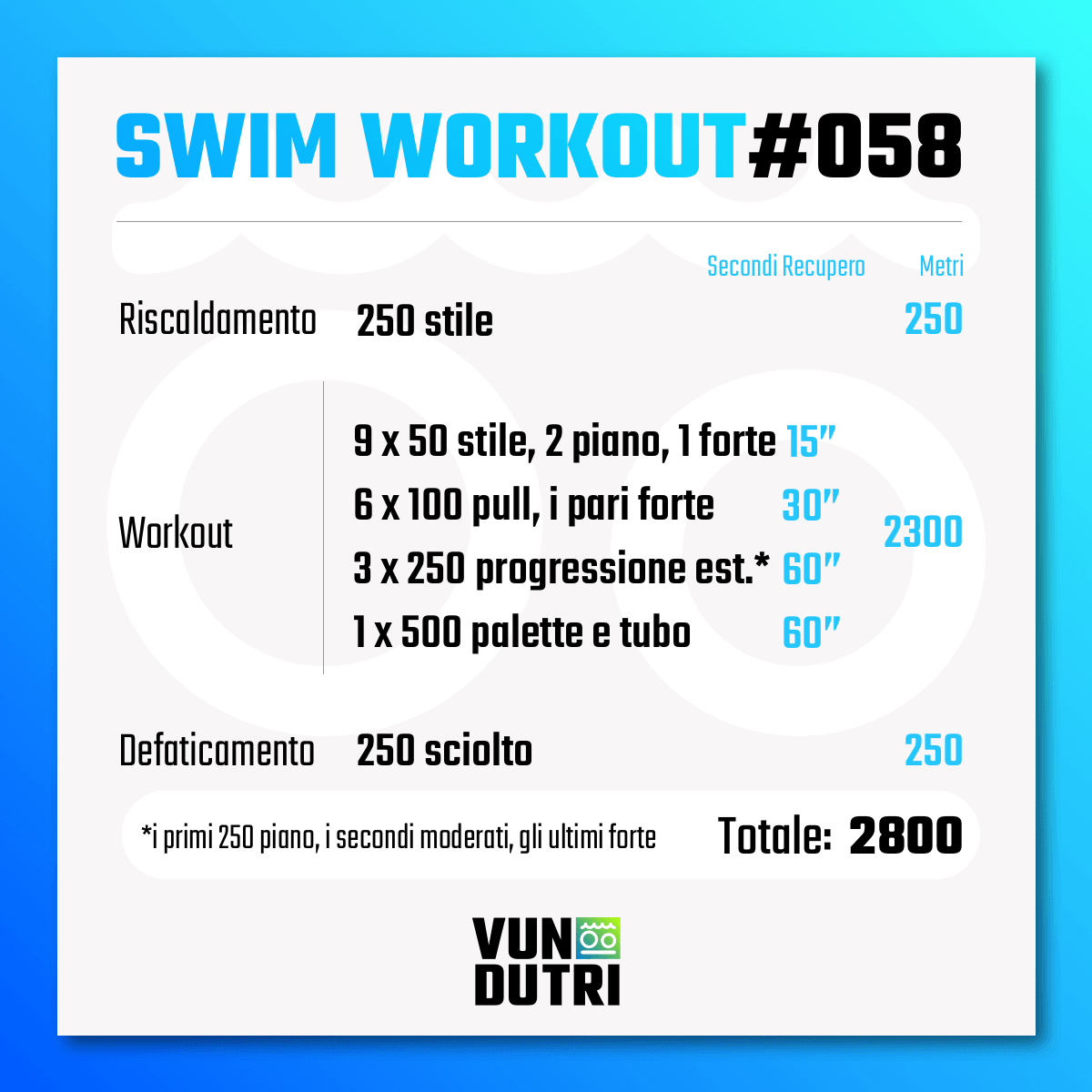 Swim workout 058