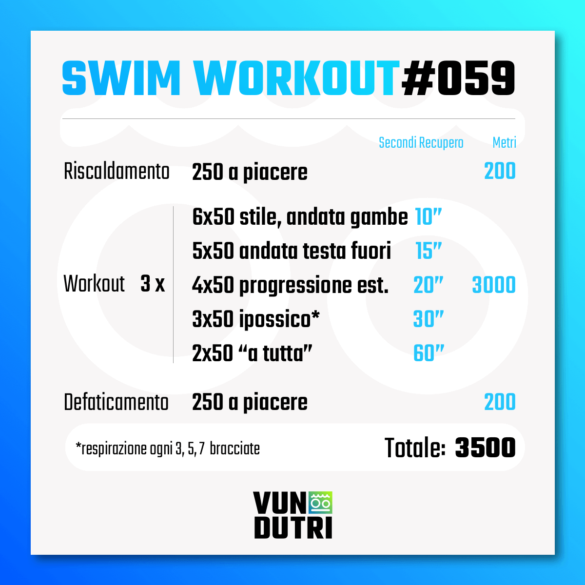 Swim workout 059