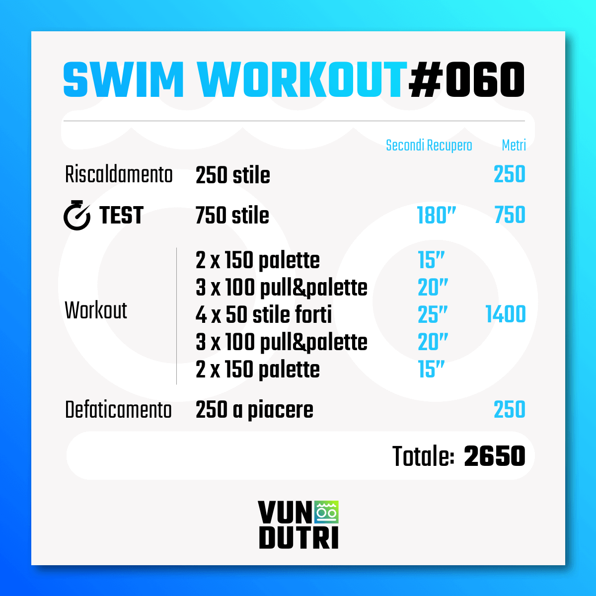 Swim workout 060