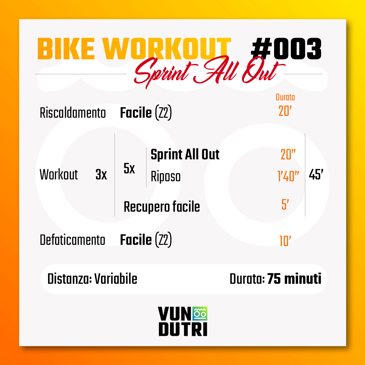 Bike Workout 003 - Sprint All Out