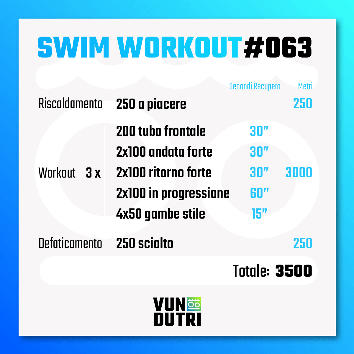Swim workout 063