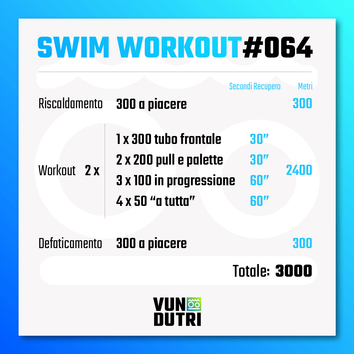 Swim workout 064