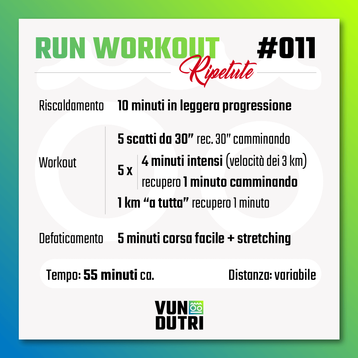 Run Workout 011 - ripetute