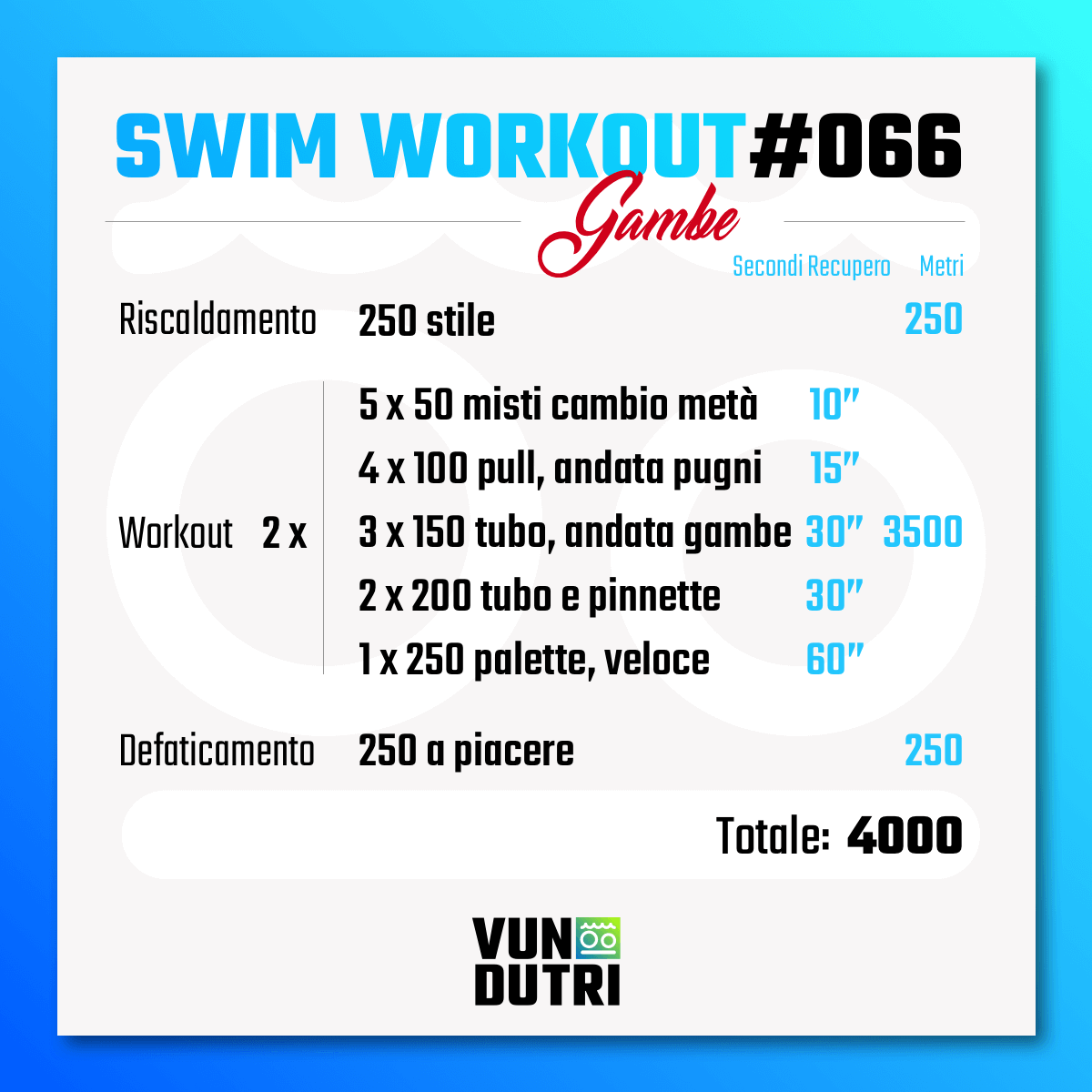 Swim workout 066