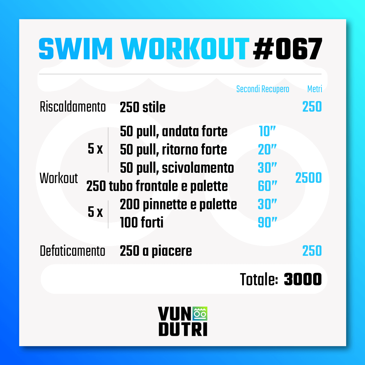 Swim workout 067