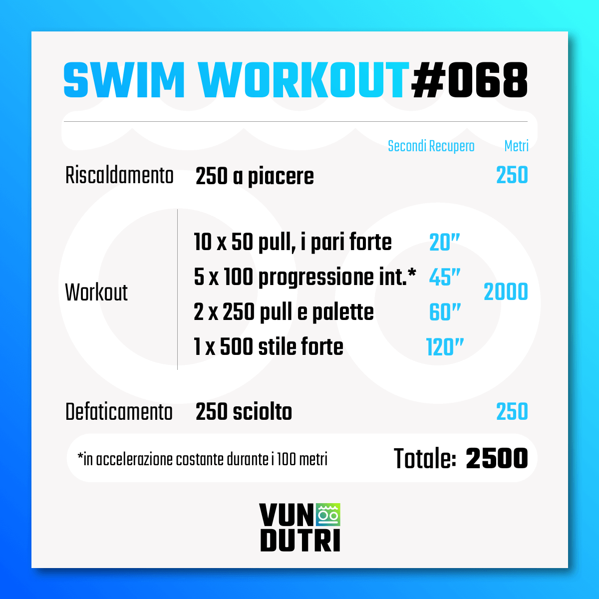 Swim workout 068